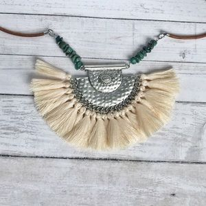 Hand Crafted Tassel Statement Necklace